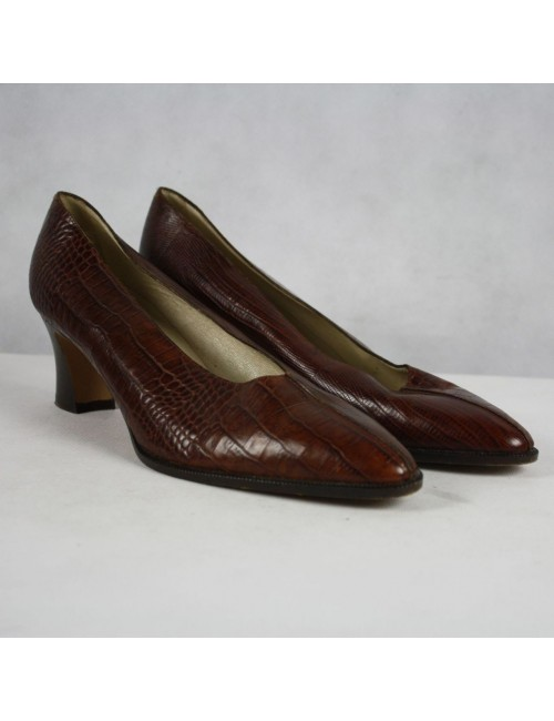 BALLY leather woman classic pumps