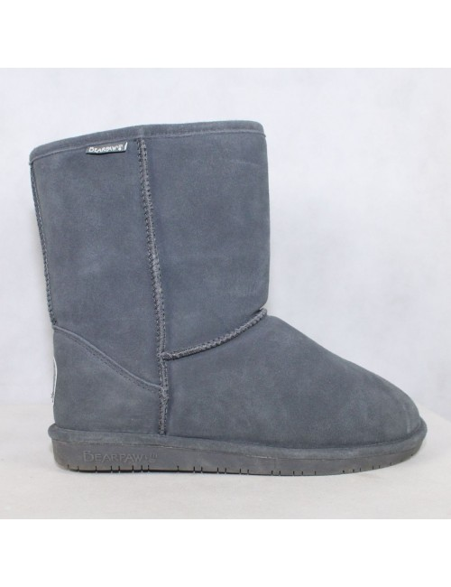 BEARPAW 606W womens Emma Short gray suede wool boots!