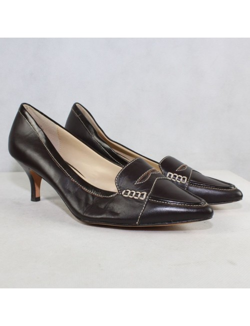 OSCAR AN OSCAR DE LA RENTA CO. womens brown leather heels