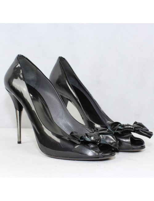 MIU MIU peep toe bow heels made in Italy!
