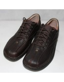CLARKS Mens Nebulae Brown Oily Leather Shoes