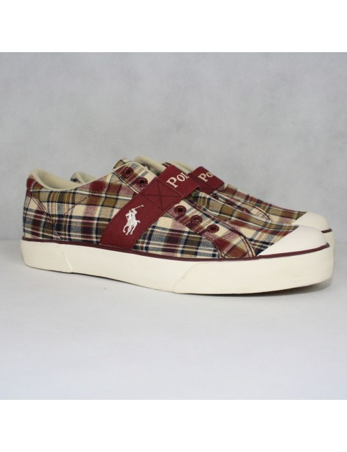 POLO BY RALPH LAUREN Giles Plaid Canvas Mens Sneakers
