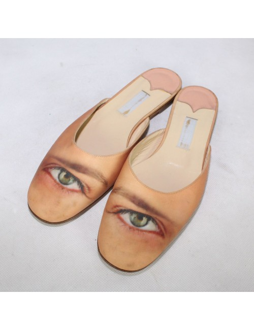 JIMMY CHOO London for Anya Hindmarch Rare Eye Printed Flats