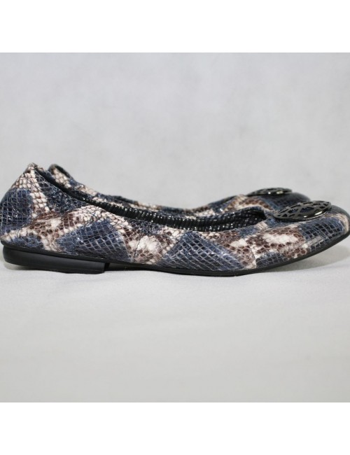 TAHARI Ta-Varsity snake-print flats Size US 8.5M
