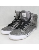 GUESS GGOPALL womens silver flashy sneakers