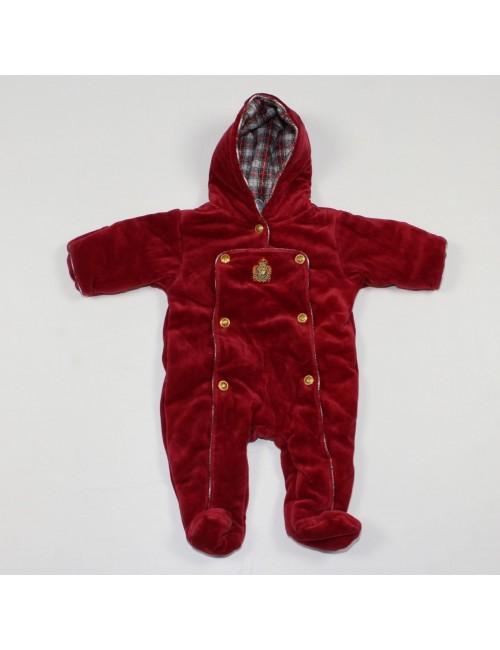 RALPH LAUREN baby 1PC red hooded winter suit!