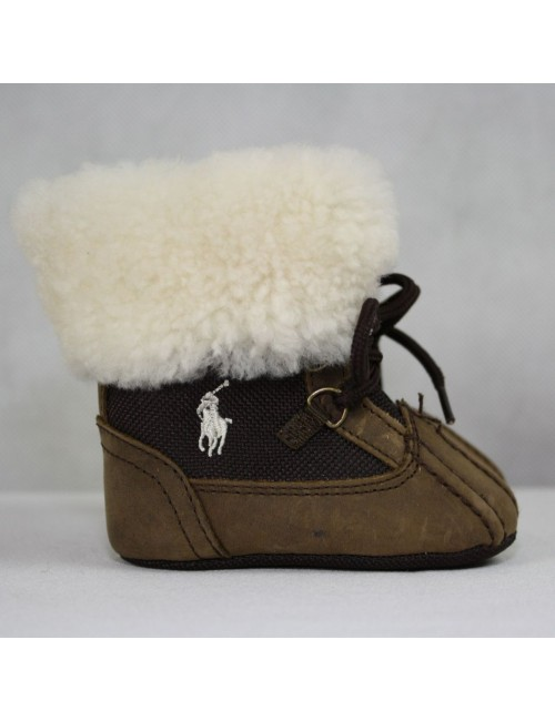 RALPH LAUREN genuine shearling baby boots Size 2