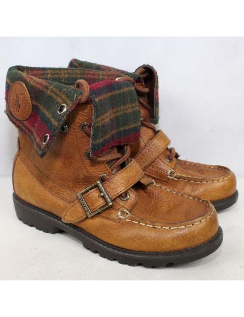 POLO by RALPH LAUREN boys brown boots RANGER HI II