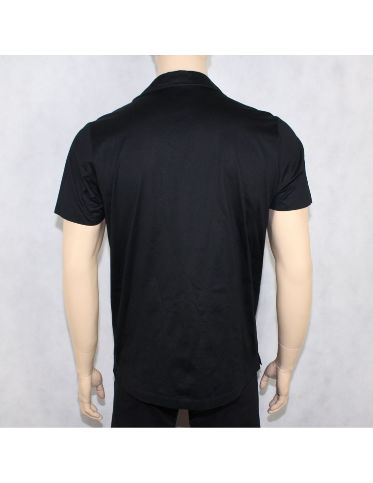 b328cfb4 BOSS HUGO BOSS mens black polo shirt MADE IN ITALY - vintaya.com