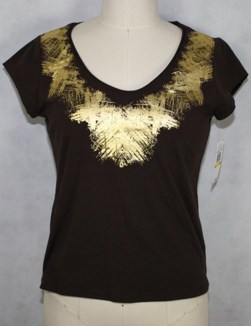 MICHAEL MICHAEL KORS chocolate brown top Size P/M