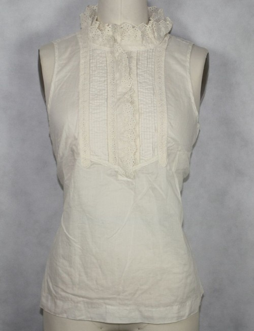J.CREW Factory eyelet bettinga top Size 10