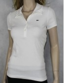 LACOSTE womens white polo shirt (size 42 US M)