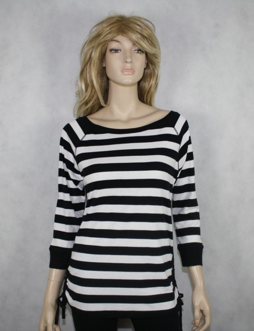 LAUREN RALPH LAUREN womens white/black top (L)