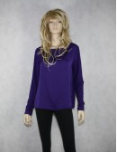 LAUREN RALPH LAUREN womens purple blouse (L)