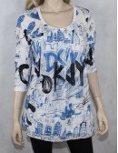DKNY CITY womens printed blouse