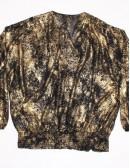 MICHAEL MICHAEL KORS womens black/gold blouse (1X)