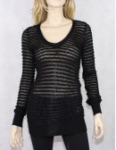 FRENCH CONNECTION Black Long Sleeves Tiered Sweater (S) NWT