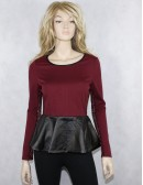 ROMEO & JULIET COUTURE womens peplum top