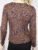 RALPH LAUREN womens multi paisley blouse (L)