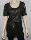 HELMUT LANG NY womens black tunic (S)