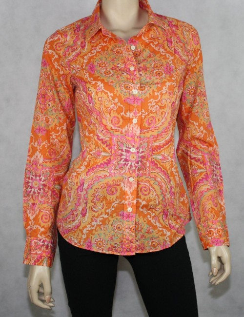 J.CREW Factory classic printed shirt Size S