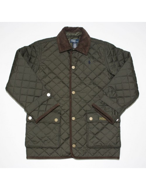 POLO BY RALPH LAUREN boys olive green quilted jacket