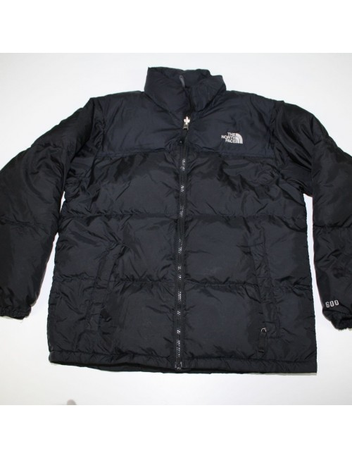 THE NORTH FACE Boys Black Nuptse 600 Jacket (L) A493