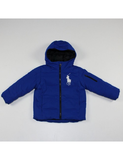 POLO BY RALPH LAUREN boys blue hooded jacket!