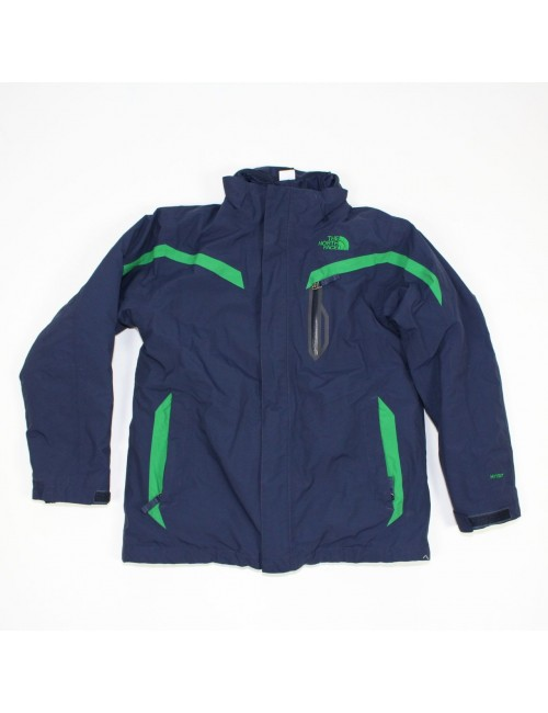 THE NORTH FACE boys navy blue/green 3 in 1 TRICLIMATE jacket (L 14/16) AUSS