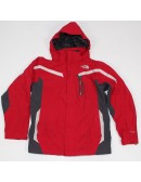 THE NORTH FACE boys red/gray TRICLIMATE jacket (XL 18/20) AUSS SHELL ONLY