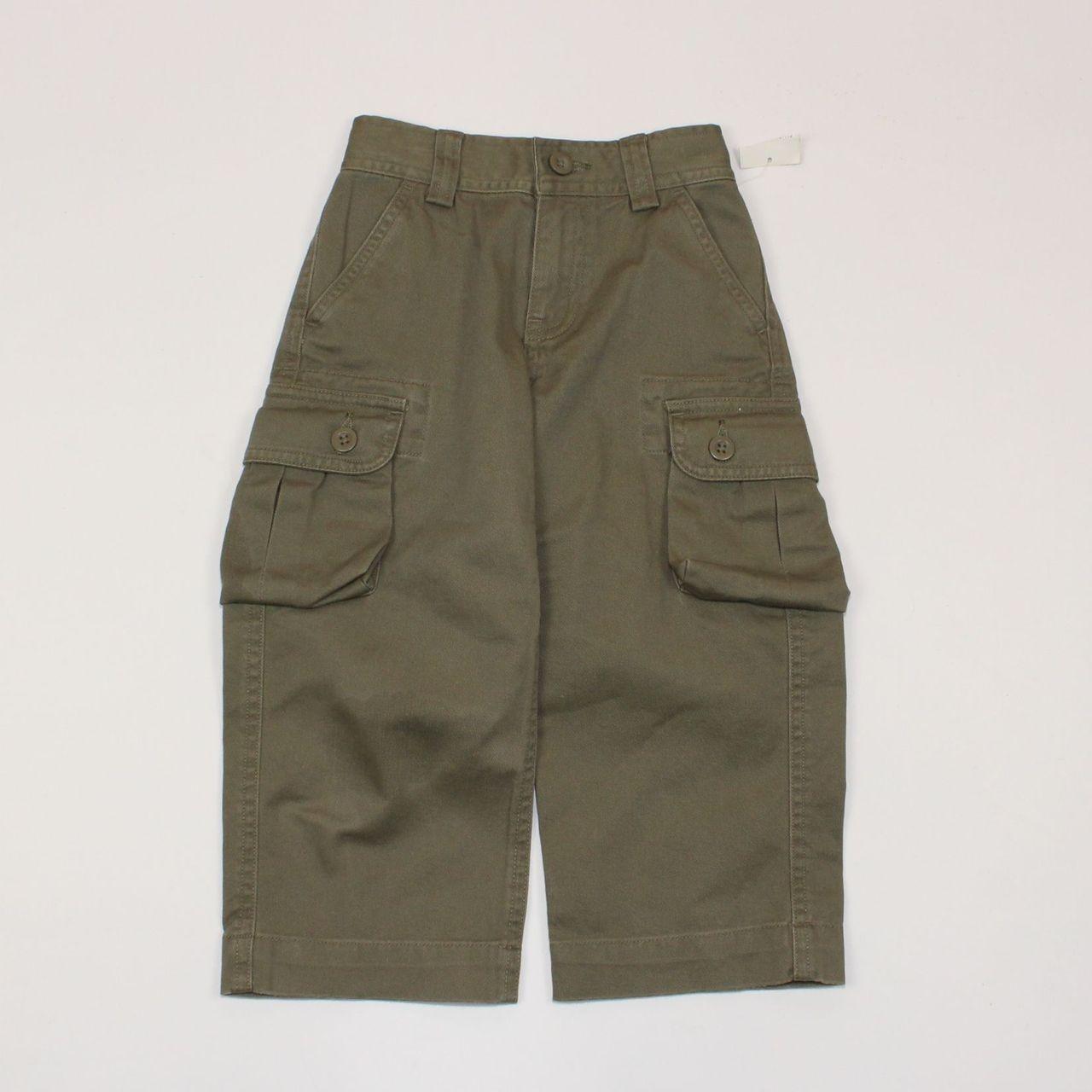 NEW Polo Ralph Lauren black cargo adjustable  khaki shorts boys 2T or 3T