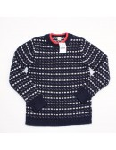 CREWCUTS Boys Navy Lambswool Norwegian Dot Sweater!