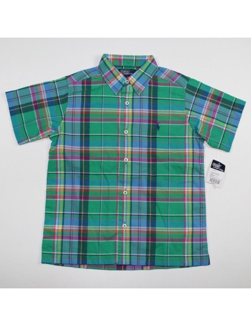 POLO BY RALPH LAUREN boys plaid shirt Size 7
