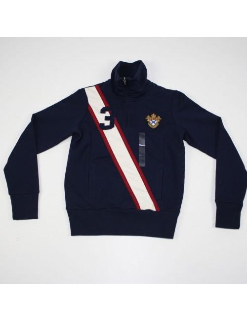 RALPH LAUREN Boys Half Zip Sweatshirt
