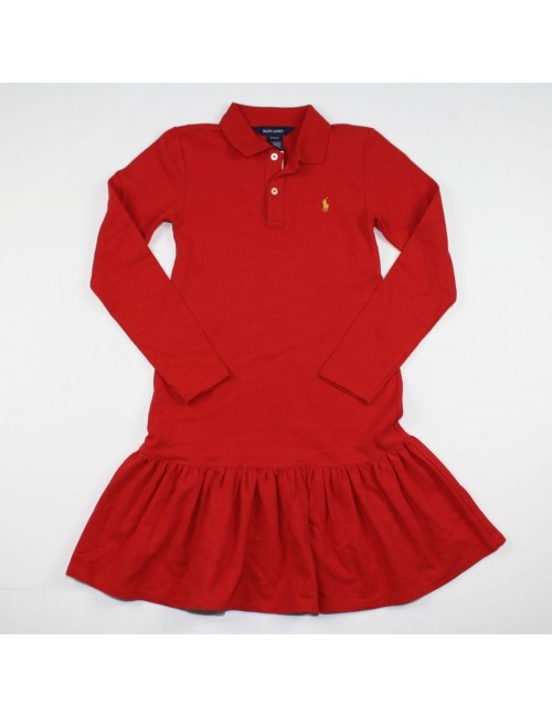 RALPH LAUREN girls polo dress NEW size M (8/10)