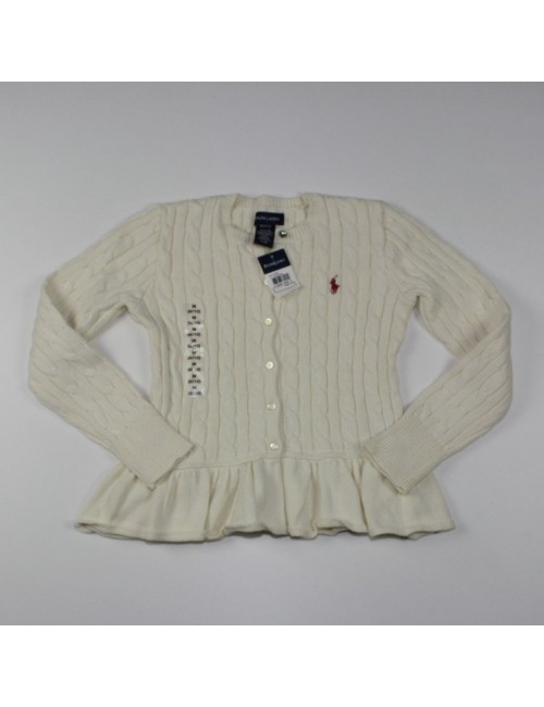 RALPH LAUREN girls cardigan sweater Size M(8/10)