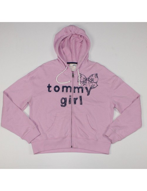 TOMMY GIRL girls pink zip front hoodie
