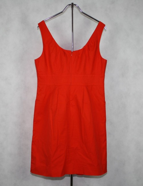 J.CREW Factory cotton shift coral dress Size 12