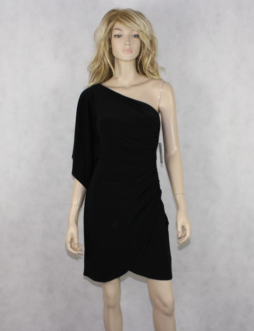 BISOU BISOU by MICHELE BOHBOT black 1-Shoulder dress