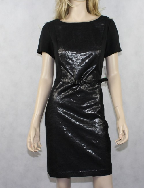 LAUNDRY BY DESIGN Black Belted Cocktail Dress!