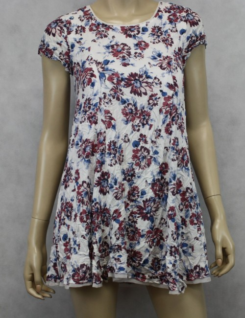 Silence + Noise by Urban Outfitters Flower Print Ivory Dress Size XS