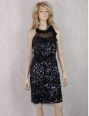 T TAHARI sequin black and navy blue dress (8)