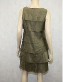 Talbots Olive Green Ruffle Dress Size 8P