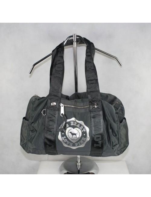 "VICTORIA'S SECRET ""PINK"" gray satin gym bag!"