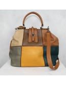 BLACK RIVET multicolor faux leather shoulder bag!