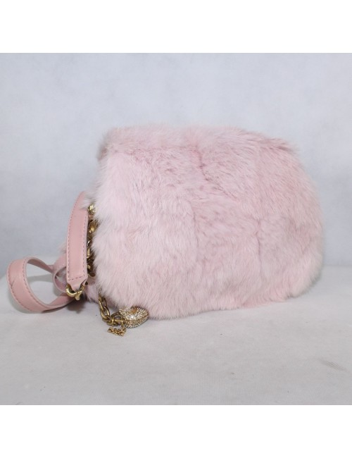 JUICY COUTURE purse with soft rabbit fur!