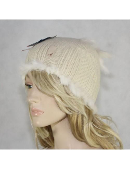 KANGOL Ivory Handknit Lambswool Hat!