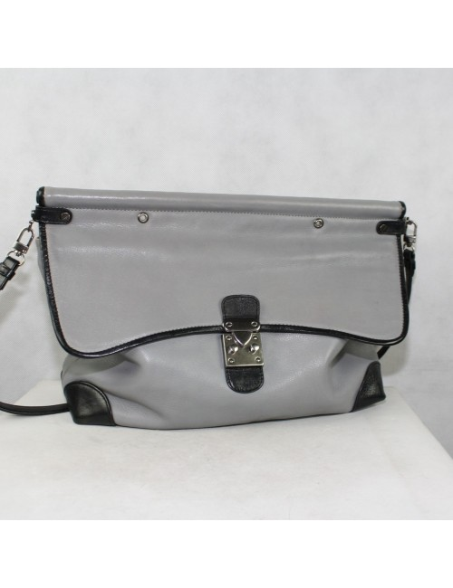 Foley & Corinna gray genuine leather handbag