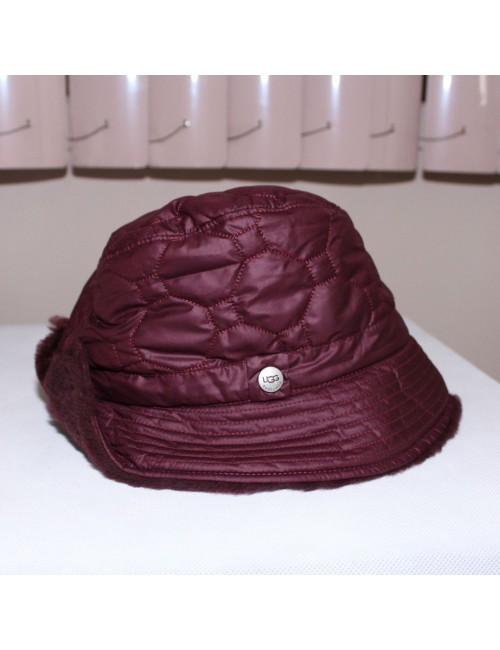 UGG AUSTRALIA Cloche quilted hat w/ shearling sheepskin!
