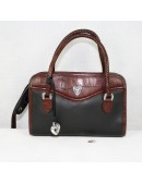 BRIGHTON Black and Brown Leather Woman Small Bag